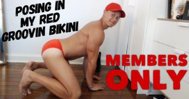 Members only- Gym update and showing off in my red Groovin Bikini.